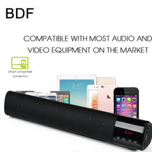 BDF B28S Sound Bar Home Theater HIFI Portable Mini Bluetooth Speaker Wireless Stereo Loudspeakers Portable Hands-free TF FM(China)