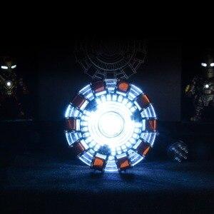 Image 3 - Avenger 1:1 Người Sắt Lò Phản Ứng Hồ Quang Nhân Vật Hành Động MK1 Iron Man Lò Phản Ứng Tony Stark Lò Phản Ứng Hồ Quang Tự Làm Các Bộ Phận Đồ Chơi Mô Hình Với đèn Led