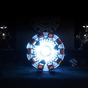 Image 3 - Avenger réacteur à Arc 1:1 Iron Man figurine daction, réacteur Ironman MK1 Tony Stark, modèle de jouets à monter soi même, pièces lumière LED