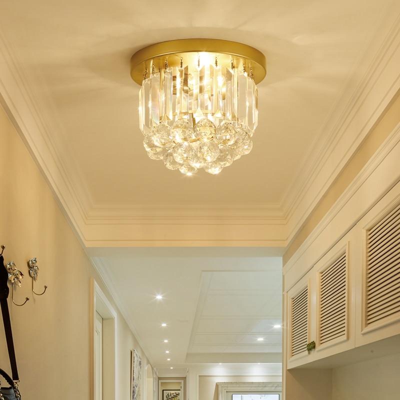 Modern Crystal Ceiling Lamp Entrance Hall Hallway Corridor Counter Lighting American Style European Crystal Lamp Light Ceiling Lights Aliexpress