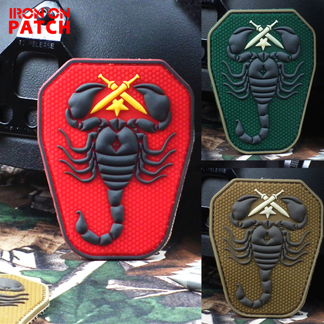 Scorpion Unit PVC The Military Embroidered Patch Hook  Loop Embroidery  Badges Fabric Military DIY Badges For Clothes Hat PATCH 54a70cac2f1