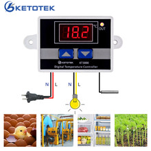 AC 220V 10A Digital Thermostat Temperature Regulator Controller Microcomputer Temperature Control Switch(China)