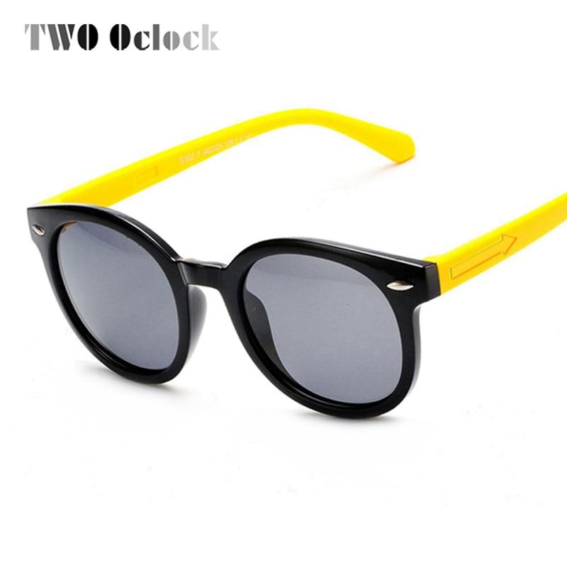6a578788b اثنين كلوك الاطفال الاستقطاب النظارات الشمسية الطفل الطفل في الهواء الطلق  نظارات TAC TR90 الصبي فتاة بولارويد نظارات شمسية UV400 oculos infantil 832