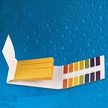 Acquario di Acqua pH Strisce Reattive Universale Gamma Completa Cartina di Tornasole di Carta 1-14 Indicatore Alcalino Acido Cibo Laboratorio Urine Del Suolo corpo Tester