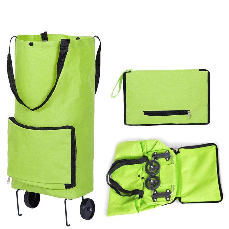 XYLOBHDG Reusable Folding Portable Shopping Bags Buy Vegetables Handbag  Shopping Food Organizer Trolley Bag On Wheels Bag