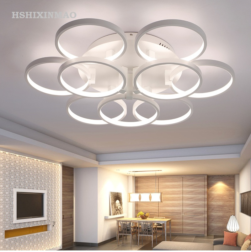 Flush Mount Ceiling Light Ceiling Lamps With Remote Control For Living Room Sitting Room Round Modern Lighting Lamparas Dero Jade White Lights & Lighting