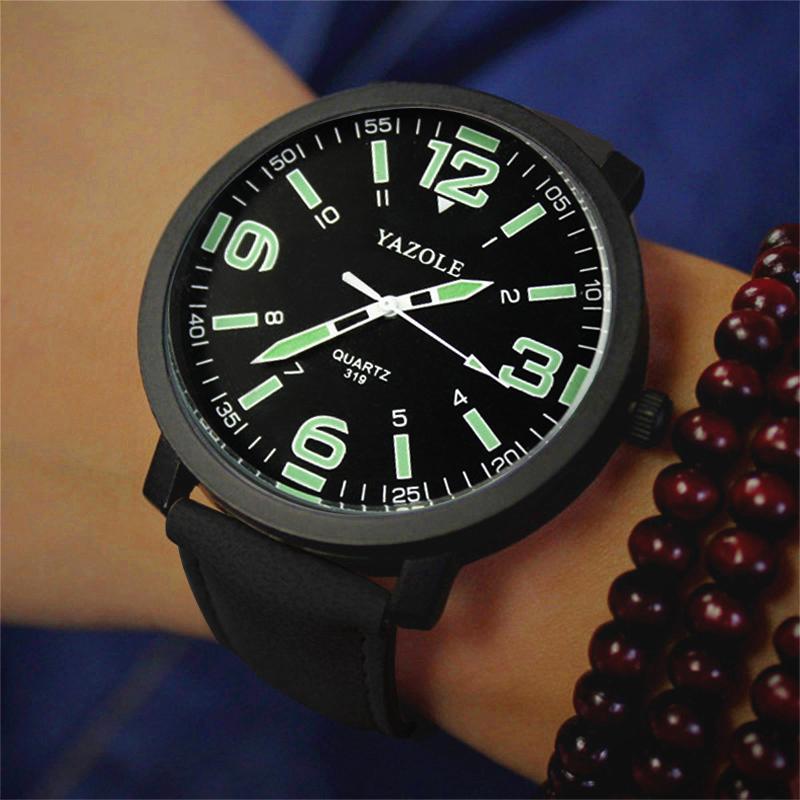 2018 yazole классический Световой Мужские часы спортивный топ бренд класса люкс известный мужские часы досуга моды часы кварцевые часы 319