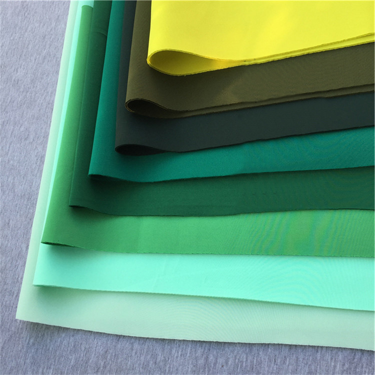 2.2mm thickness fashion design material green stretch scuba cloth knit2.2mm thickness fashion design material green stretch scuba cloth knit