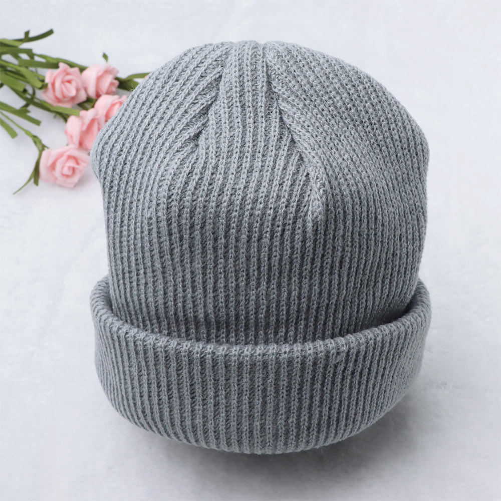 Active Winter Hats For Man Woman Dome Beanies Knitted Solid Hat Autumn Warm Unisex Hat Warmer Bonnet Short Wool Head Cap Running Cap Attractive Fashion
