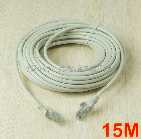 50FT 15M RJ45 CAT5 CAT5E Ethernet Internet LAN Network Cord Cable #R179T#Drop Shipping 60ft rj45 ethernet cable 18m cat5e cat5 internet network patch lan 18 meters cable cord for network security ip camera or pc