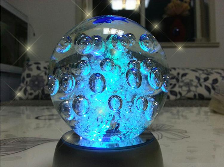 100mm hand made luminous bubble ball glass crafts collectible