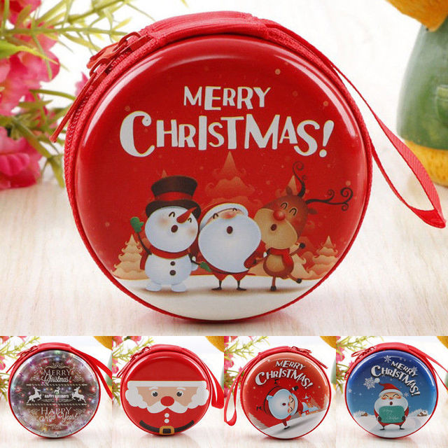 Christmas Presents For Girls.Us 2 84 Small Christmas Gifts Bag Christmas Bag Candy Christmas Presents For Kids Girls Xmas Santa Zip Gift Holders Mini Coin Purse In Storage Boxes