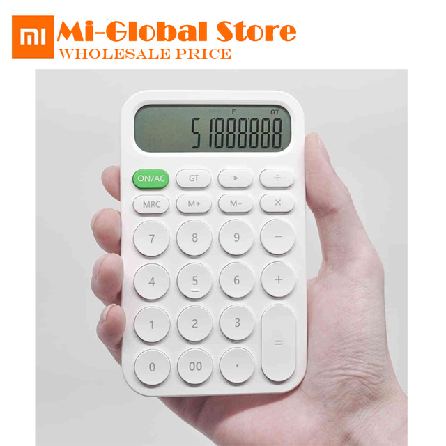 Xiaomi MIIIW 12 Digit Electronic Calculator Simple design LED Display calculation tool For Office Working Student Stationery