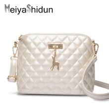 MeiyaShidun Women Bag Fashion casual plaid Shell Bag PU leather handbags women messenger bags Quiled animal small shoulder bags