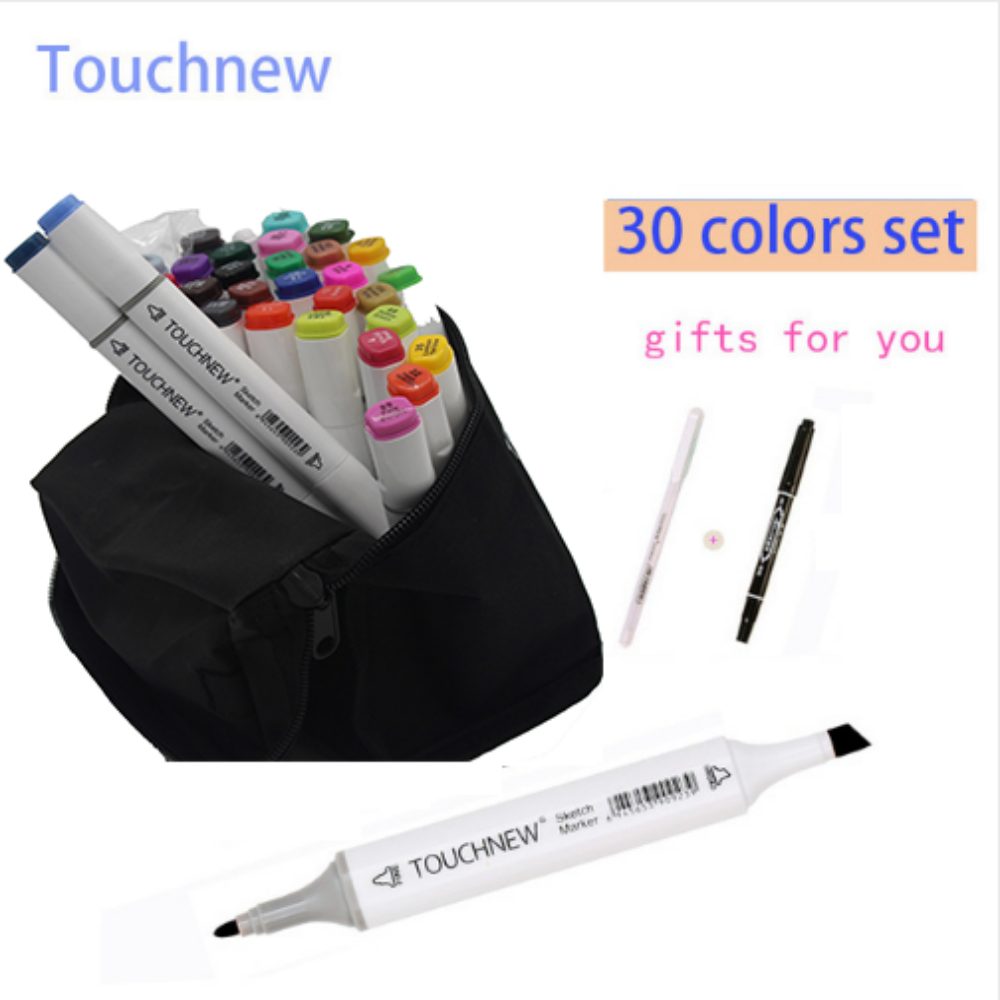 Free shipping six generations alcohol oily hand-painted art mark pen 30 36 40 color suit Professional design fine markers manga w110145 soft head fine water mark pen 48 60 color beginners painting professional equipment advanced ink student art suit