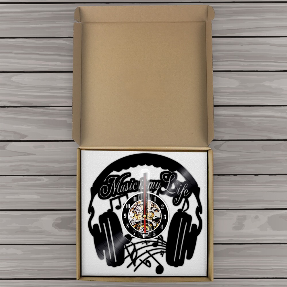 1piece music is my life decorative vinyl light wall lamp modern 1piece music is my life decorative vinyl light wall lamp modern home decor led wall clock for rock music fans modern home decor in wall clocks from home amipublicfo Gallery