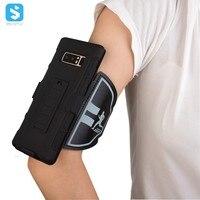 Sporty Armband Chân Đế Case cho Samsung Galaxy Note 8 Điện Thoại Di Động Tay Áo Với ban nhạc Cánh Tay Dây Đeo Cổ Tay Holster & Clip