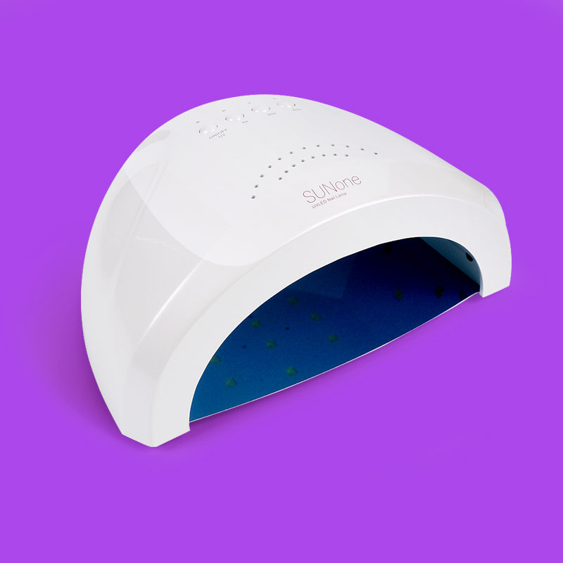 ФОТО SUNone 48W LED UV Lamp Nail Dryer Fingernail & Toenail Nail Polish Gel Curing White Light Manicure Machine Nail Art Tool