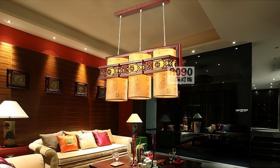 FREE SHIPPING EMS lights bedroom lamp faux lamp classical dining room lamp pendant light  6093