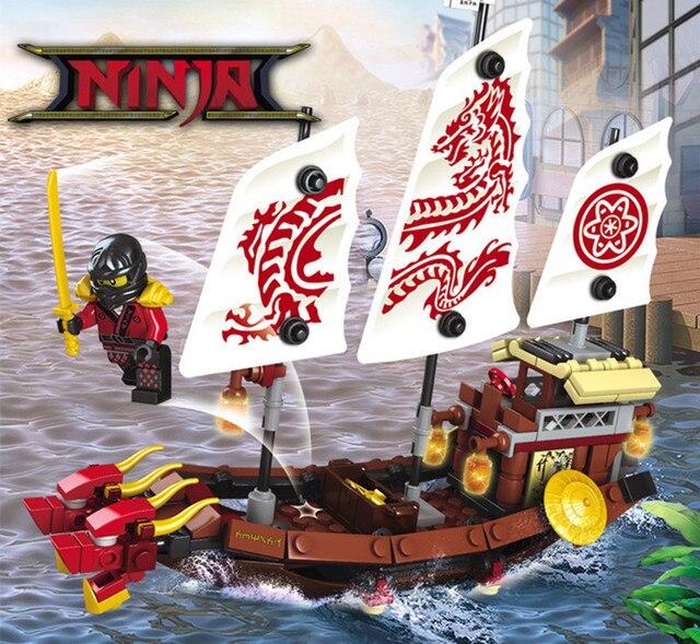207 個 2in1 忍者デスティニー賞忍者ドラゴンボート diy ビルディングブロック教育玩具子供の互換 ninjago