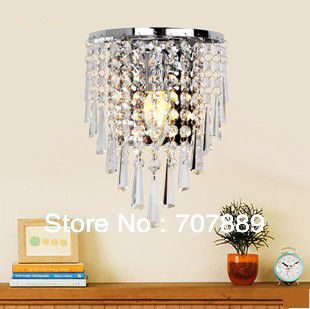 Free shipping Modern crystal wall lamps Dia 18cm bedside wall light Fashion fixture lighting lights Sconces decor WL043 modern brief crystal pendant light lamps diameter 48 cm free shipping
