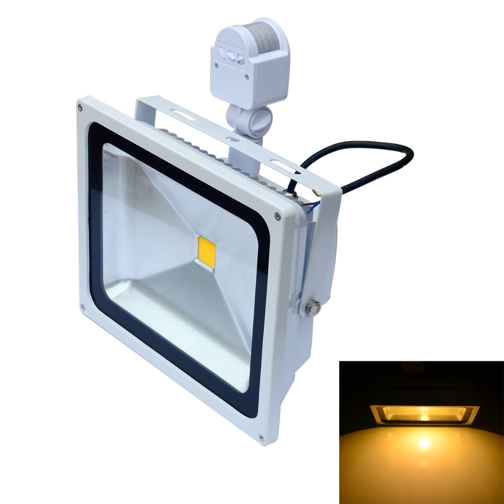 lowest price pir motion sensor led flood lights warm white