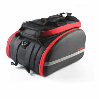 Promend 35L Cycling Bags MTB Bike Rear Rack Bag Multifunction Road Bicycle Tail Pannier Rear Double Side Seat Trunk Bag with Lid