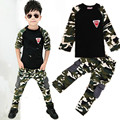 2015 New Camouflage Kids Clothing Set for Boys&Girls Spring&Autumn Cotton Camo Boys Sports Set Active Girls Clothing Sets