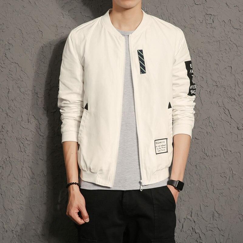 New 2017 Fashion Jacket Coat Men Pilot Reversible Male Jacket Windbreaker Plus Size 5XL Mens Coats <font><b>Black</b></font> White <font><b>Bomber</b></font> Jacket Men