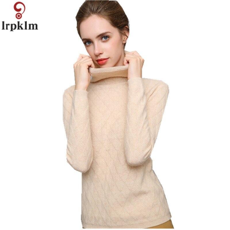 Бренд шерсть женский Sweters для женщин Invierno 2018 зимние короткие дна Водолазка Мода тепло свитер белый