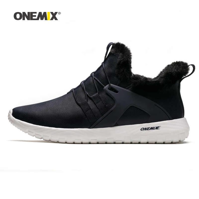 ONEMIX Mannen Winter Wandelschoenen Zachte Comfort Waterdichte Outdoor Warme Snowboots Grijs Mannelijke Tennis Sport Trainers Trail Sneakers