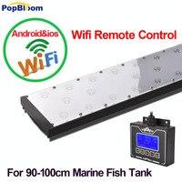Popblom лампа для морского аквариума Sunrise Sunset Wifi рифовый аквариум светодиодное освещение с регулируемой яркостью аквариум лампа MC9BP1