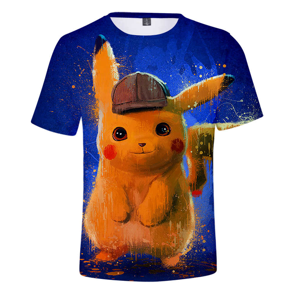 00682d879 ... Pokemon Detective Pikachu 3D Printed T-shirts Women/Men Fashion Summer  Short Sleeve Tshirt ...