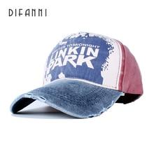 цены Difanni Casual Letter LINKIN PARK Cap Adjustable Cotton Hat Solid Snapback Outdoor Sports Gorras Hip Hop Men Women Baseball Cap
