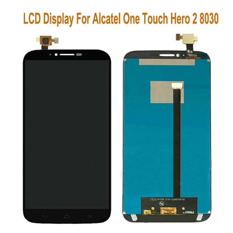 For Alcatel One Touch Hero 2 8030 8030B 8030Y LCD Display + Touch Screen Digitizer Black 6.0 inch lcd with touch panel for 8030