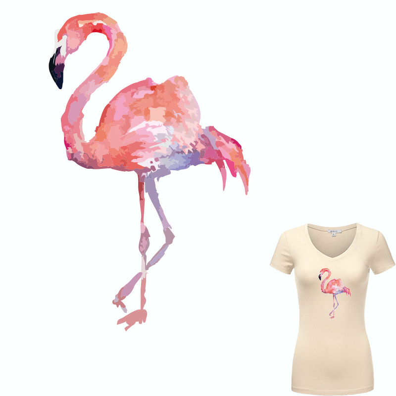 Colife Pink Flamingo-patches voor kleding Strijken op transfers Patch A-level wasbare kleding Stickers hittepers geappliqueerd