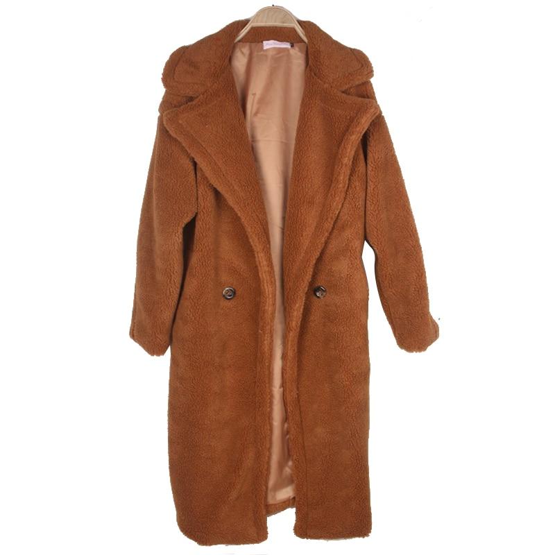 Толстый теплый искуственный мех Плюшевые пальто