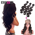 360 Lace Frontal With Bundle Peruvian Body Wave Pre Plucked 360 Frontal With Bundles Human Hair Lace Frontal Closure With Bundle