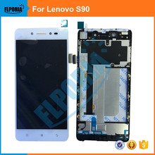 1 UNIDS Para Lenovo S90 Pantalla LCD Con Pantalla Táctil Digitalizador Con Marco Asamblea piezas de Repuesto