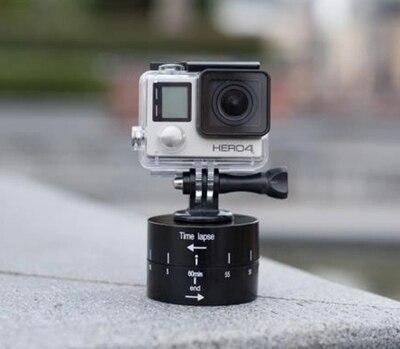 360 Degrees Panning Rotating waterproof Pan Tilt Head Auto Rotation Camera Mount for GoPro HERO5 HERO4 Session HERO 5 4 3+ 3 2