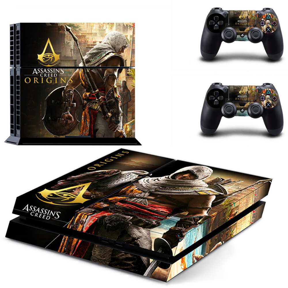 Game Assassins Creed Origins PS4 Skin Sticker Decal for Sony PlayStation 4 Console and 2 Controllers PS4 Skin Sticker Vinyl