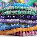 Natural Jade bolas de Piedra 4mm 100 unids Color de Moda de calidad Superior perlas sueltas Plano Redondo pulsera de la bola para la joyería que hace DIY