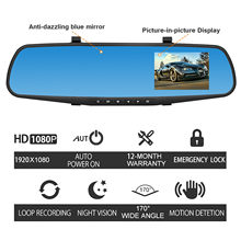 Backup Camera 1080P HD Car Dash Camera Dual Cam Vehicle Front Rear DVR Lens Video Recorder For volvo xc90 xc70 for Honda for bmw(China)