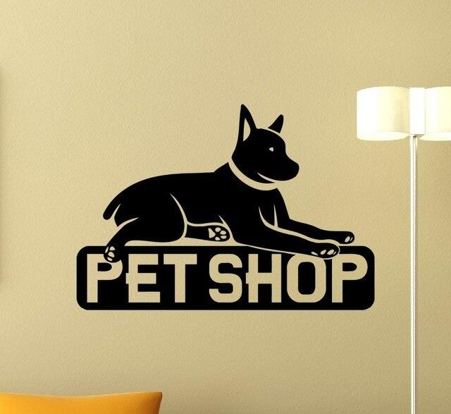 Pet dog shop decoration wall label design pet shop animal wall art ...