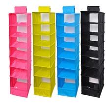 Home Storage Organisation mehrschichtige 6-regal Polyester Stoff Kleiderschrank Lagerung Kleidung Kleiderschrank Hängen Mesh Sortierung Organizer