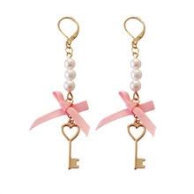 2017 han edition bowknot earrings key fashion earrings earrings wholesale pearl earring delicate woman цена