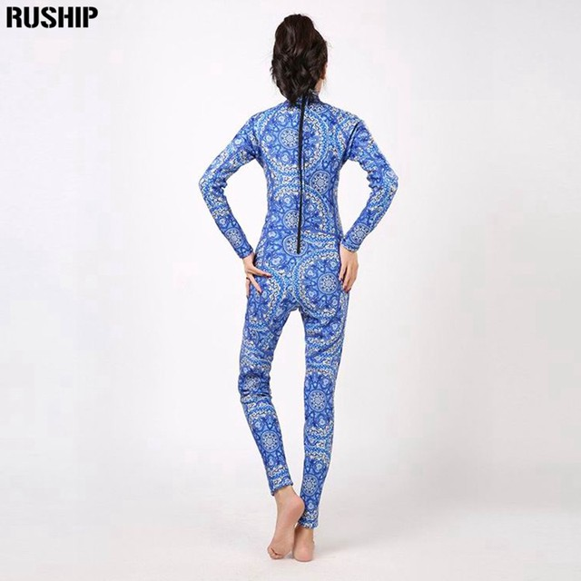 Hisea 3mm Women Neoprene printing Elastic Wetsuit Diving Equipment full bodysuit Swimsuit Neoprene wetsuit diving suit