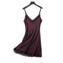 Купить с кэшбэком 2018 Summer 100% Nature Silk Lash Lace Sleep Tops Women Camisoles 5 Colors Elegant Sexy Pajamas V-neck Cool Bottoming TG-048
