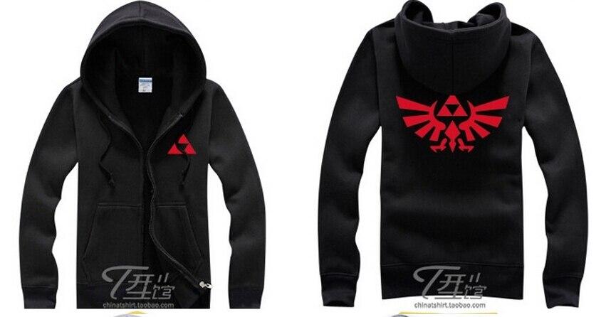 TRIFORCE WINGS Hoodie Black Sweat Shirt The Legend of Zelda cosplay costume link princess coat jacket