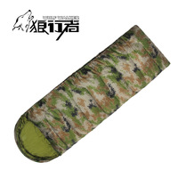 Outdoors Camouflage Adult Sleeping Bag Thicken army Envelope Portable Cotton Travel Hiking camping Equipment 1.6KG